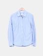 Camisa de rayas azul manga larga H&M