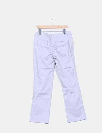 Pantalon gris pata recta