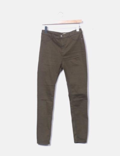 Pantalón pitillo verde