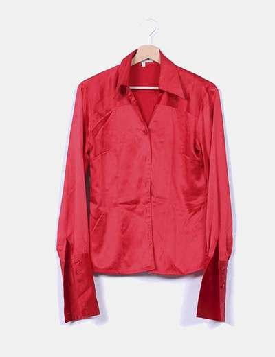 Camisa roja satinada Presagio