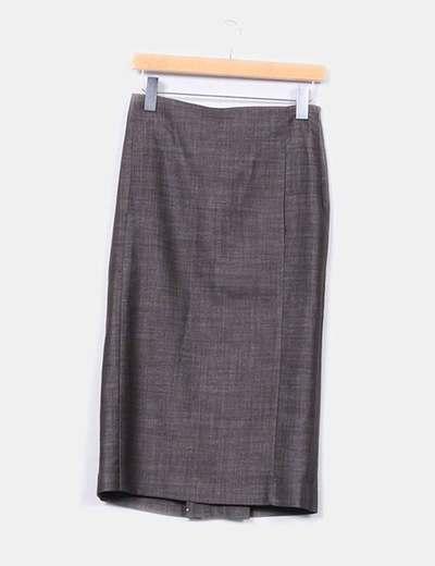 Falda midi marrón Patrizia Pepe