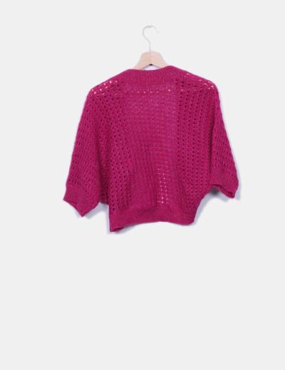 Jersey de punto rosa glitter