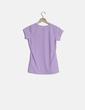 Camiseta manga corta lila Ilico