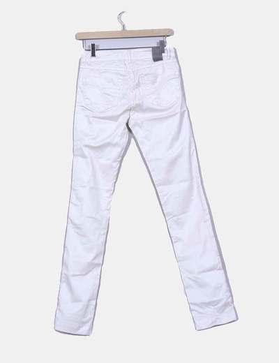 Pantalon blanco nacarada efecto encerado