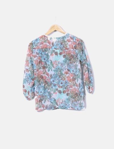 Blusa de gasa floral