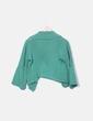 Chaqueta tricot verde con manga campana Lester
