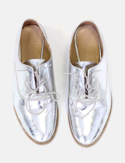 Zapatos Micolet Plateados Zara 72 descuento Oxford Piel YqRqx8dO