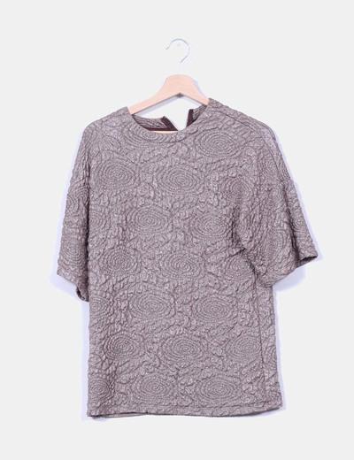 Jersey marrón texturizado Zara