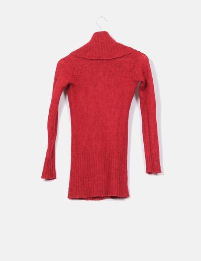 Jersey rojo cuello baboso