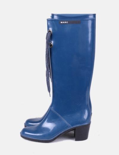 Bota de agua azul con tacón Marc Jacobs