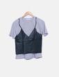 Camiseta combinada manga corta Zara