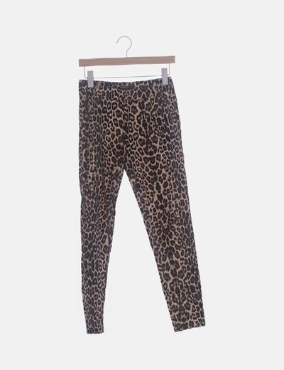 Pantalón pitillo animal print