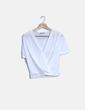 Blusa drapeada blanca Zara