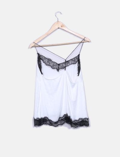 df000c839b52 Camiseta blanca lencera