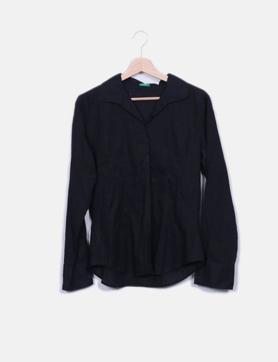 Camisa básica negra Benetton