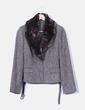 Conjunto de falda y blazer marrón jaspeada Yera