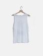 Camiseta blanca detalle flecos Pull&Bear
