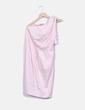 Vestido midi rosa escote asimétrico Asos