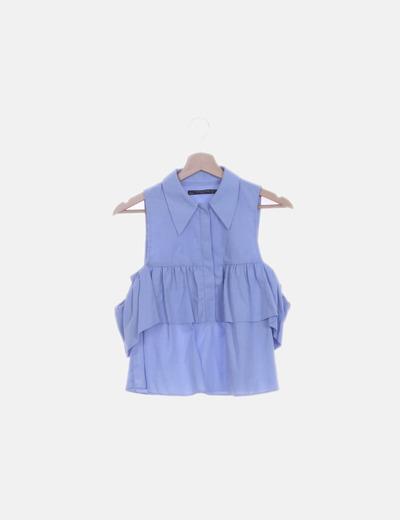 Camisa volante azul