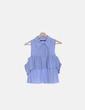 Camisa volante azul Zara