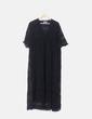 Maxi vestido negro de encaje Sand Coachella
