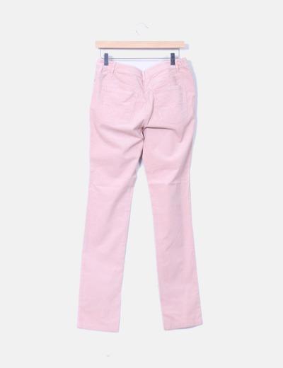 Pantalon de pana rosa