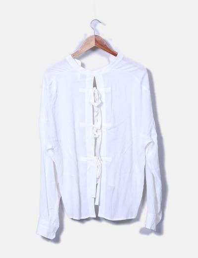 Blusa blanca escote espalda