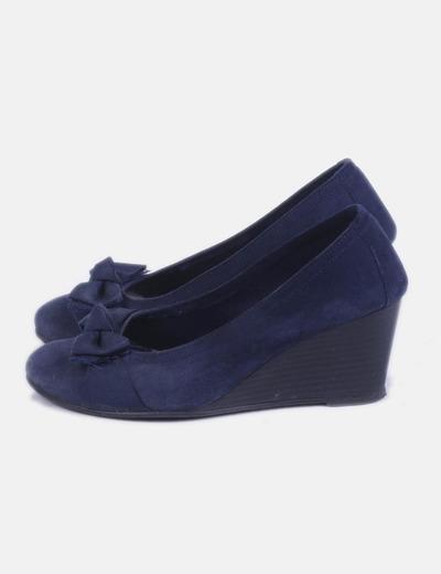 Zapato azul marino lazo