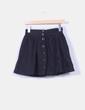 Mini falda negra con vuelto H&M