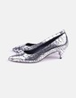 Zapatos de tacón plateados Asos