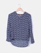 Blusa azul floreada Menglu
