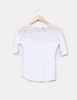 Camiseta blanca con encaje Shana