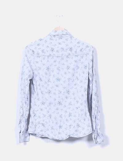 Camisa de rayas estampado floral