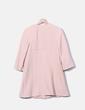 Abrigo fino largo rosa palo Zara