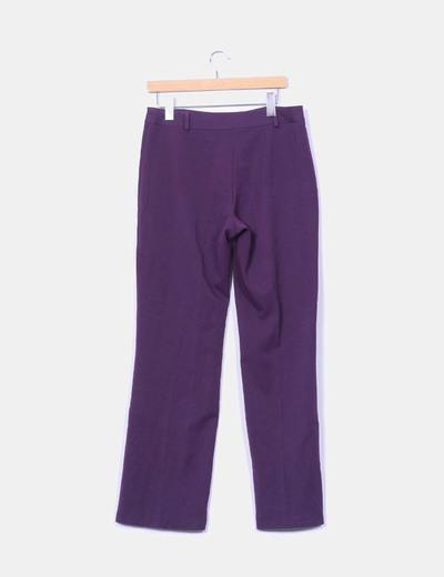 Pantalon sarga morado