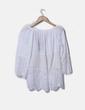 Blusa combinada con crochet y bordados florales NoName