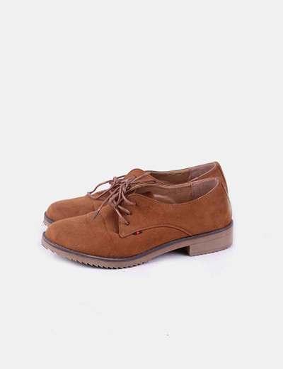 Zapato camel antelina Tony.P