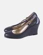 Chaussure à talon grise compensé Adela gil