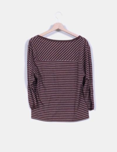 Camiseta manga larga estampado rayas