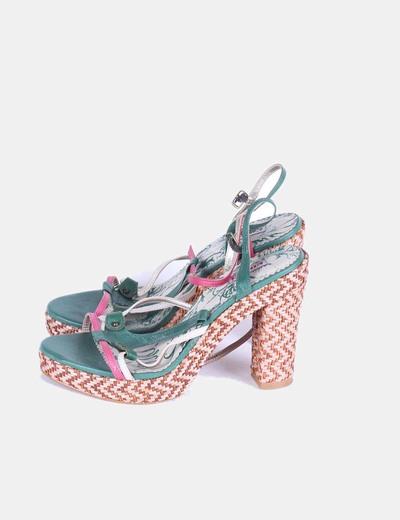 Sandalias de tiras verdes Colcci