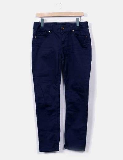 Pantalón azul marino pitilllo Uterqüe