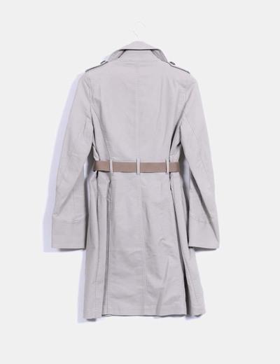 Comptoir des cotonniers manteau gris long trench r duction 82 micolet - Reduction comptoir des cotonniers ...
