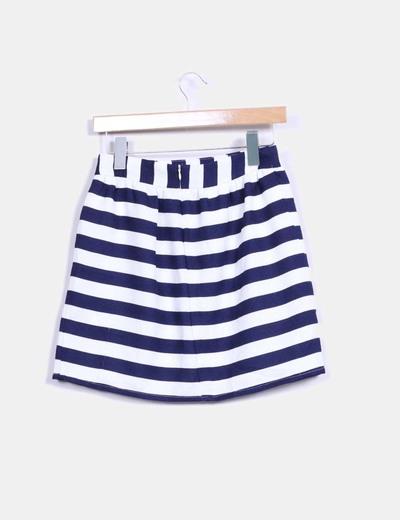 41235d3fd Lefties Falda midi de rayas azul y blanco (descuento 78%) - Micolet