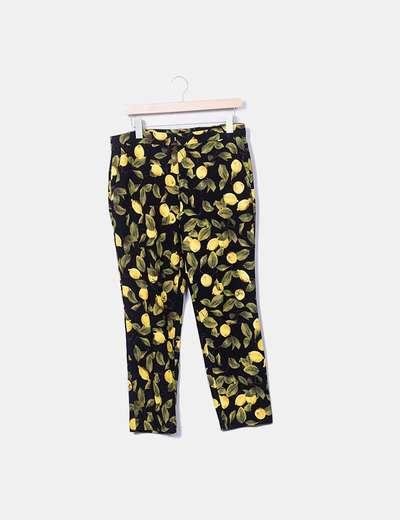 Pantalón negro con limones