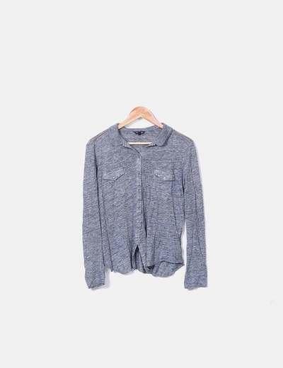 Camisa de punto gris