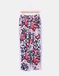 Pantalón fluido estampado floral Zara
