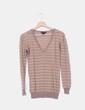 Suéter camel de rayas glitter Mango