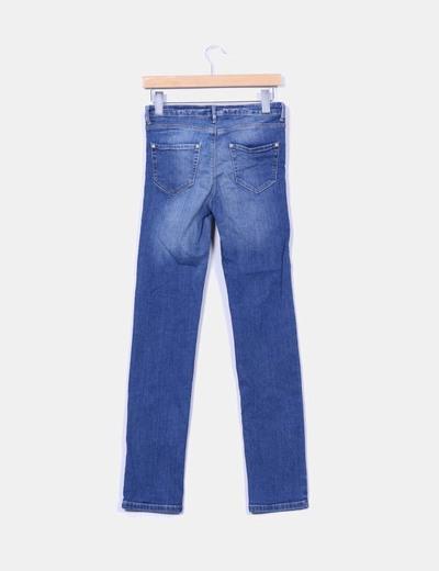 Jeans tono medio desgastado