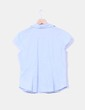 Blusa azul con mini cuadros  H&M