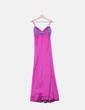 Maxi vestido combinado en tonos malvas Easy Wear